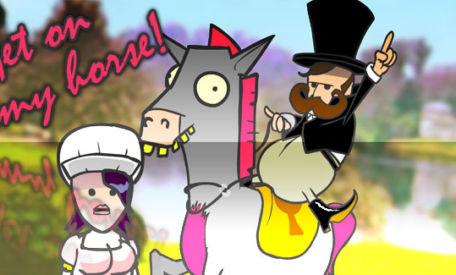 Amazing Horse: Get on my horse, my horse is amazing …