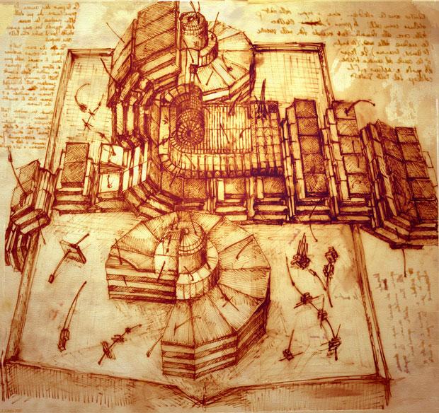 LHC-Zeichnung nach DaVinci