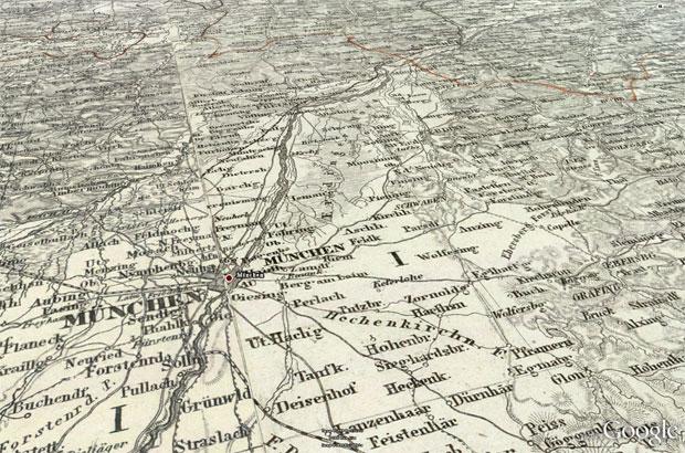 Historische Karte Bayern