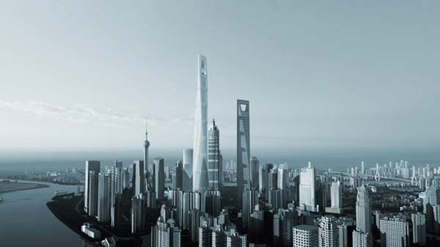 Shanghai Tower in Shanghai (China)