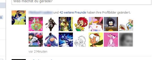 Facebook: Profilbilder werden mit Comicfiguren ausgewechselt