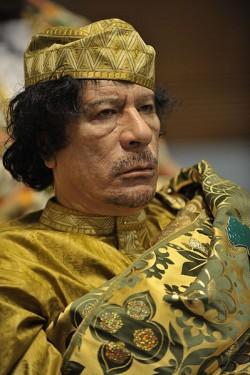 Muammar al-Gaddafi beim Gipfeltreffen der Afrikanischen Union 2009.