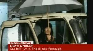 Verhöhnt weiterhin sein Volk: Al-Gaddafi - Fotos: BBC