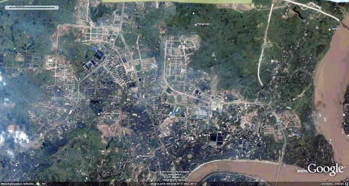 Vorschau: Chóngqìng 2002 aus Google Earth.