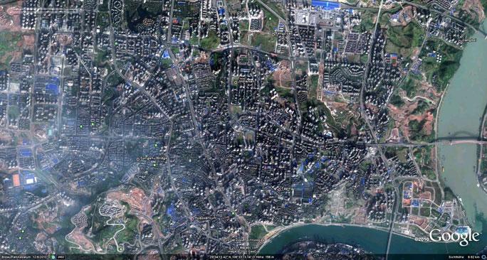 Vorschau: Chóngqìng 2010 aus Google Earth.