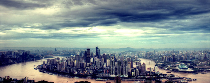 The skyline of Chongqing, Photographed at Nanshan. Author: Oliver Ren