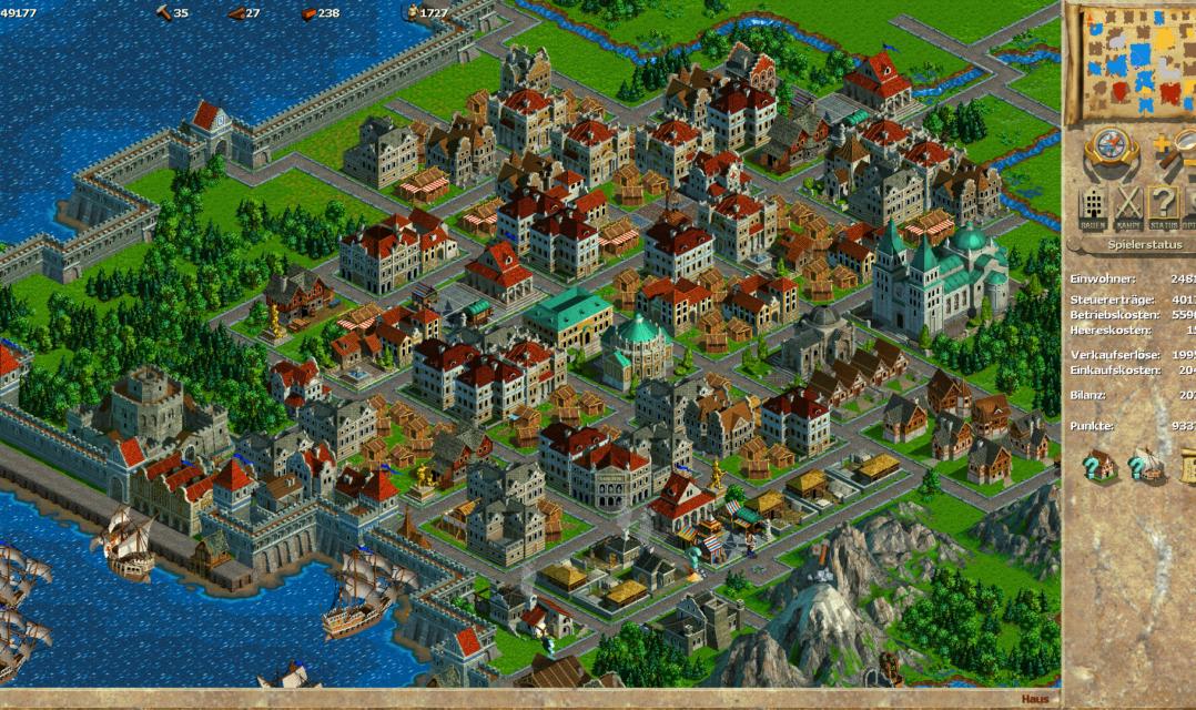 Pioniere füllen die Lücken der Stadt, die durch die überstürzte Flucht der Kaufleute entstanden. Die Folge: Das Stadtbild wirkt zerpflückt.